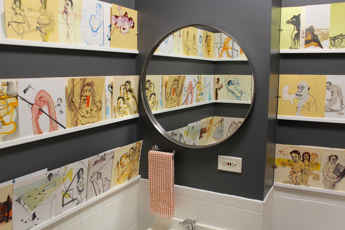 """John Henley, installation view of """"Number Two,"""" 2014. Courtesy of the artist and Loo."""