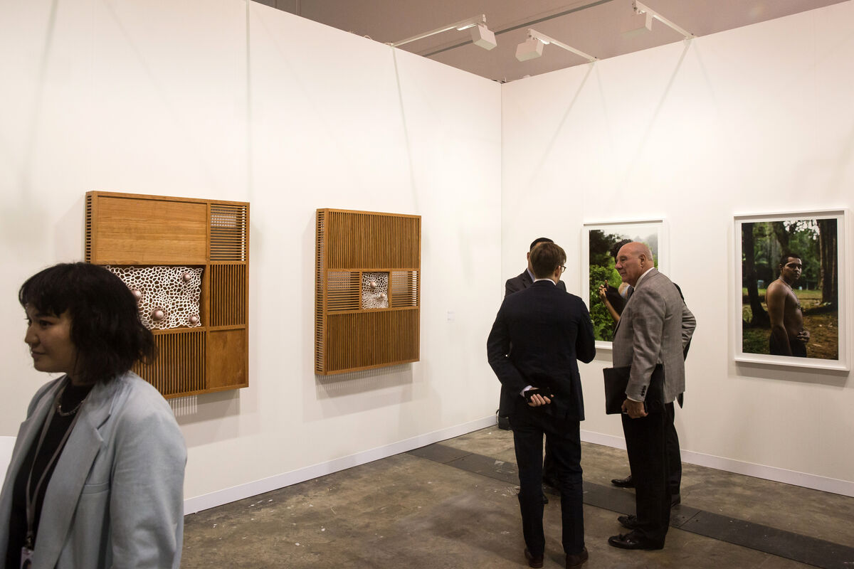 Installation view of 47 Canal's booth at Art Basel in Hong Kong, 2019. Courtesy of Art Basel.