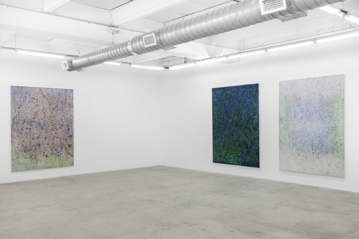 """Installation view of """"Tomm El-Saieh: The head and the house."""" Courtesy of Michael Jon & Alan."""