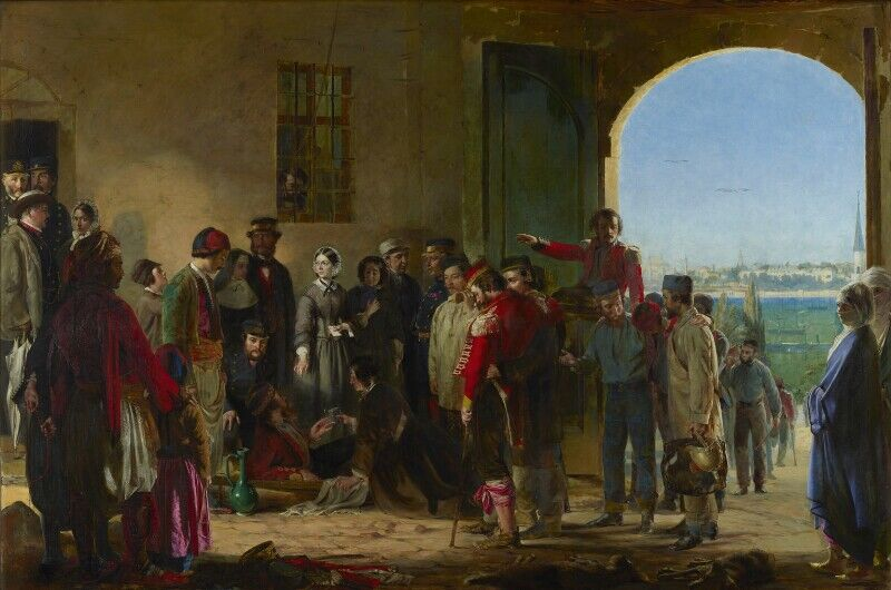 Jerry Barrett, The Mission of Mercy: Florence Nightingale receiving the Wounded at Scutari, 1857. © National Portrait Gallery, London. Courtesy of National Portrait Gallery, London.