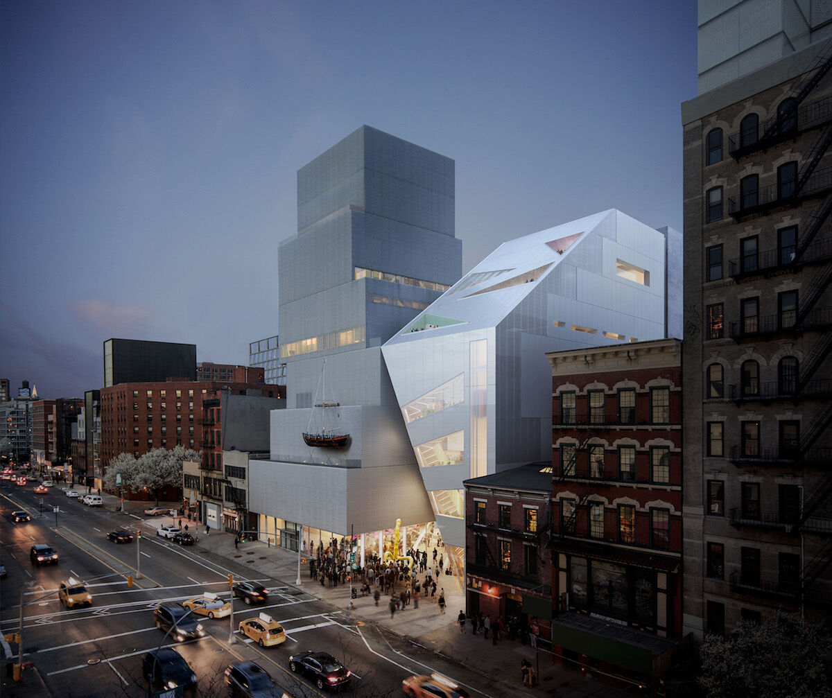 A rendering of the new New Museum building. Courtesy OMA/Bloomimages.de.
