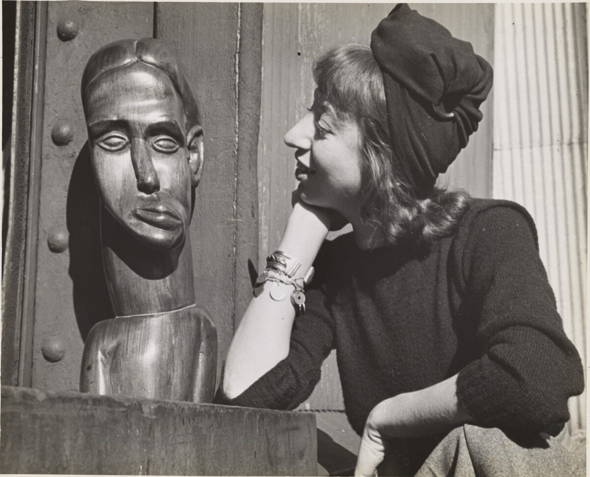Lee Krasner at the WPA Pier, New York City, where she was working on a WPA commission, c. 1940. Photo by Fred Prater. Lee Krasner Papers, c. 1905–84. Courtesy of the Archives of American Art, Smithsonian Institution.