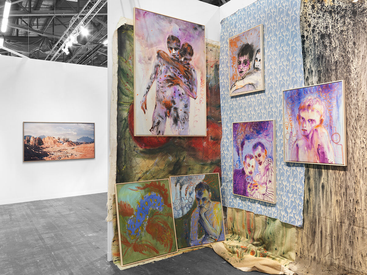Installation view of DITTRICH & SCHLECHTRIEM's booth at The Armory Show, New York, 2020. Photo by Shoot Art, Christopher Burke Studio, New York. Courtesy of DITTRICH & SCHLECHTRIEM, Berlin.