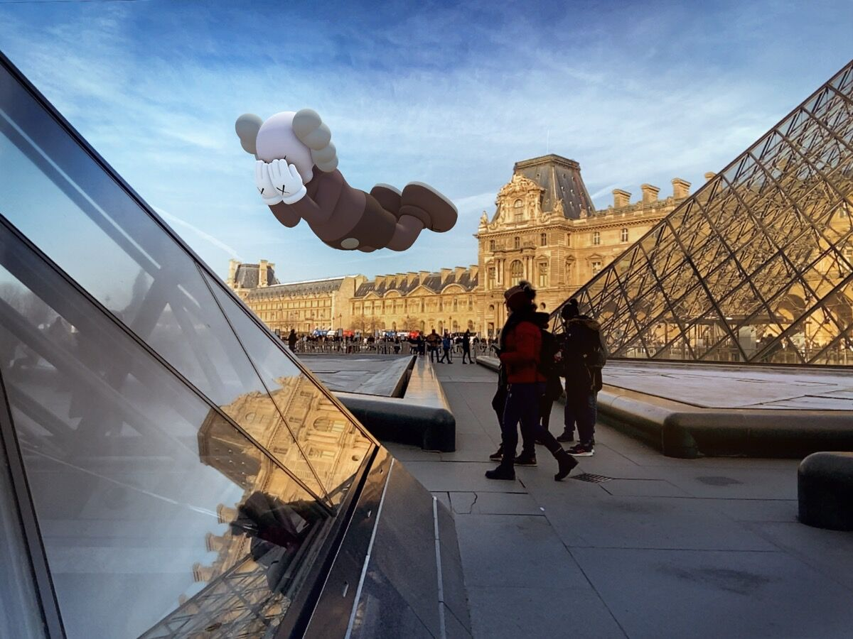 KAWS, COMPANION (EXPANDED) in Paris, 2020. Courtesy of KAWS and Acute Art.