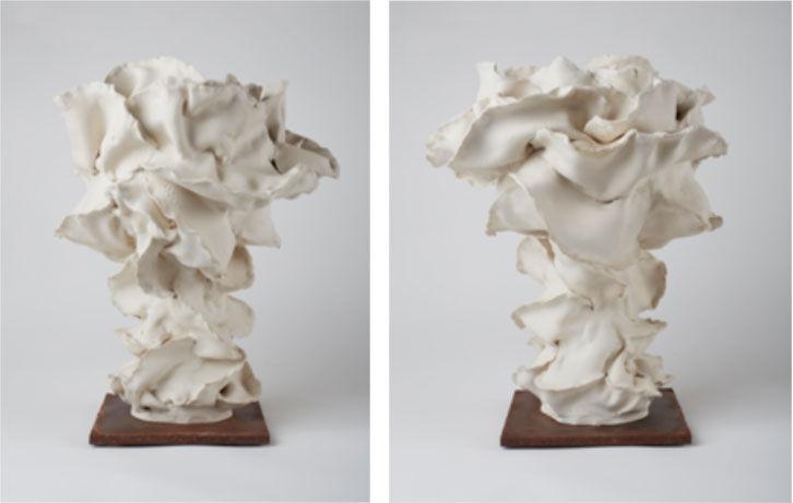Left: Nathalie Khayat, Mushroom 1, 2016; Right:Nathalie Khayat, Mushroom 2, 2016. Photos courtesy of Agial Art Gallery.