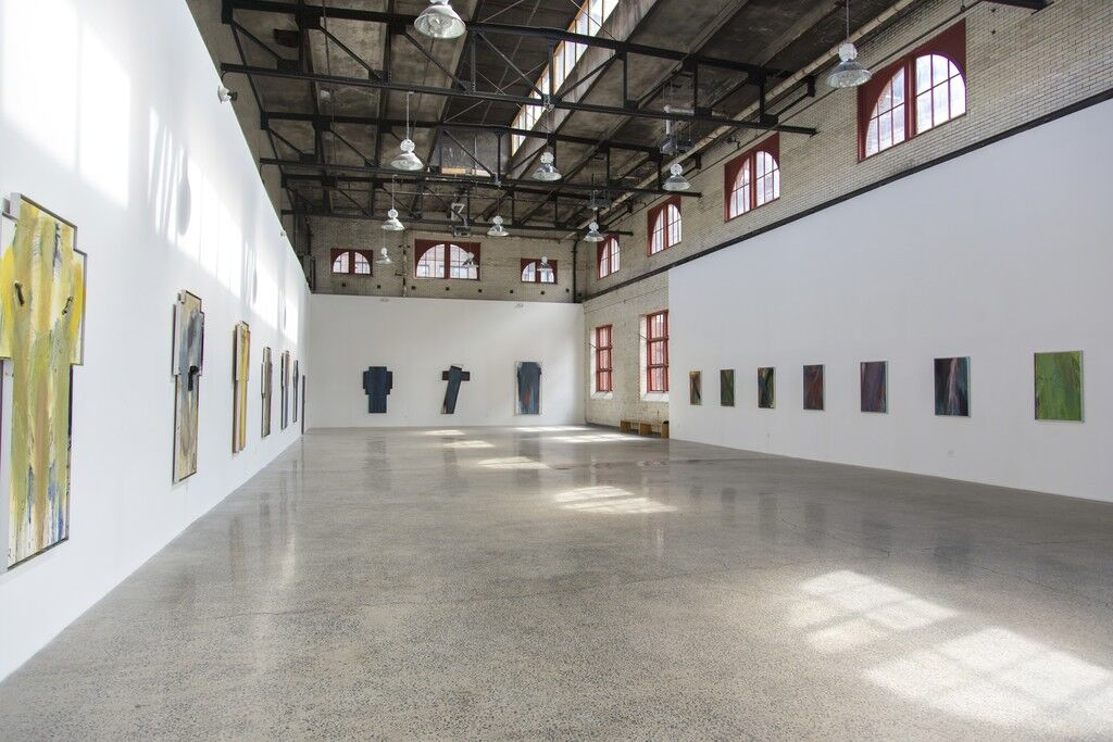 """Installation view of """"Ayn Foundation Presents: Arnulf Rainer"""" at Mana Contemporary, Jersey City. Courtesy of Mana Contemporary and the artist."""