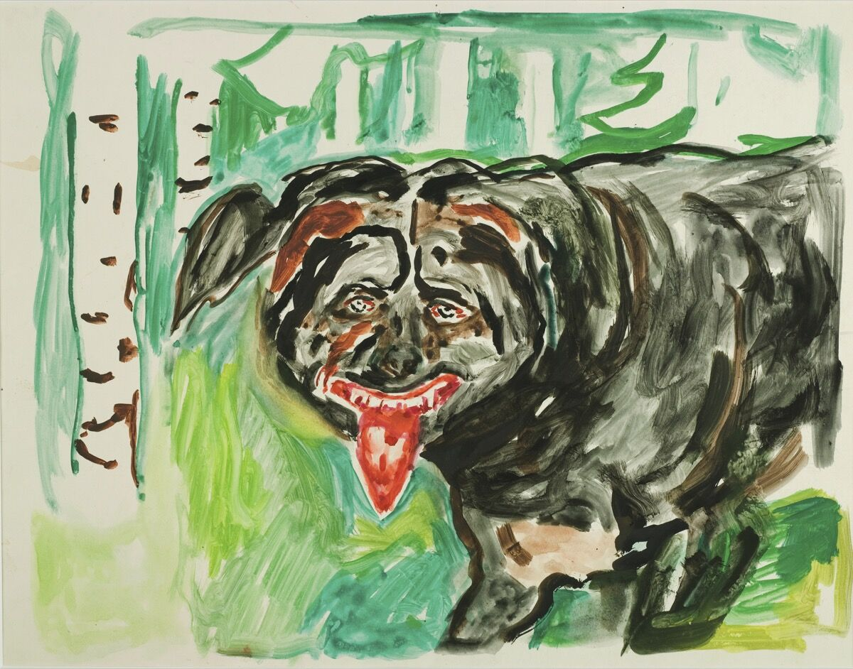 Edvard Munch, Angry Dog, 1938-43. Photo by Richard Jeffries. Courtesy of the The Munch Museum.