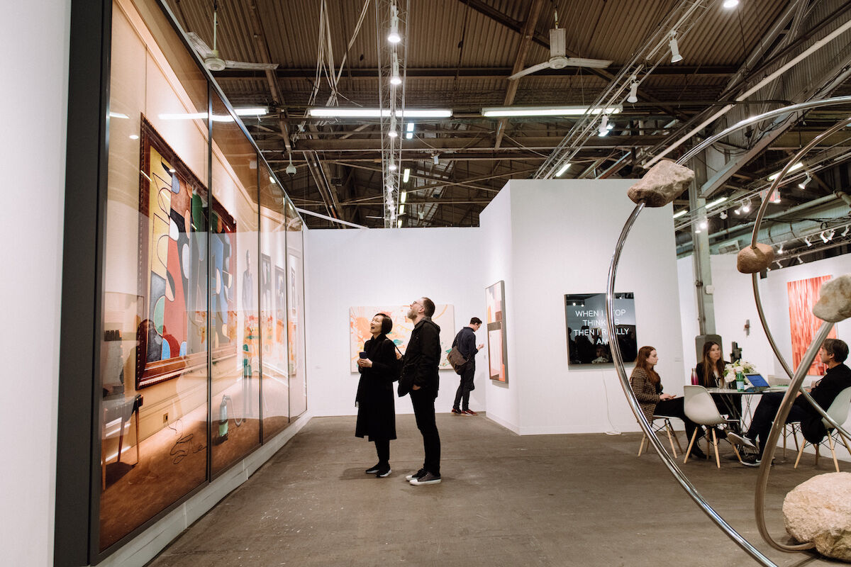 The 303 Gallery booth at the 2019 edition of The Armory Show. Photo by Teddy Wolff, courtesy The Armory Show.