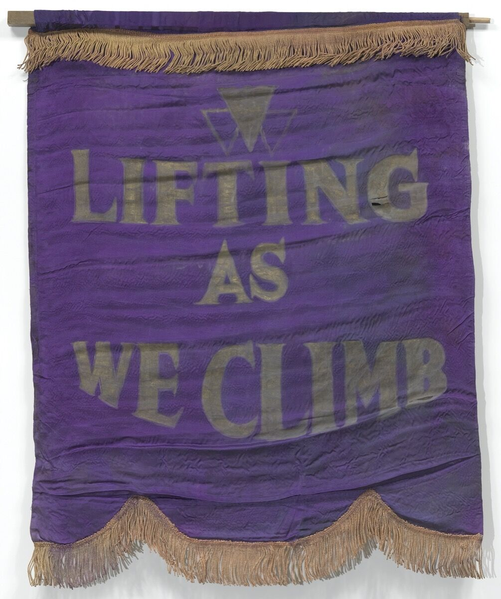 Banner with motto of Oklahoma Federation of Colored Women's Clubs, ca. 1924. Courtesy of the Smithsonian National Museum of African American History and Culture.