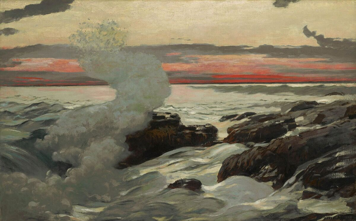 Winslow Homer, West Point, Prout's Neck, 1900. Photo via Wikimedia Commons.