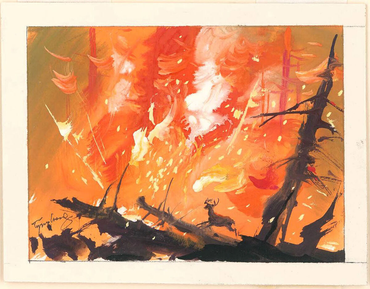 Tyrus Wong, Bambi (visual development), 1942. Courtesy of Tyrus Wong and PBS.