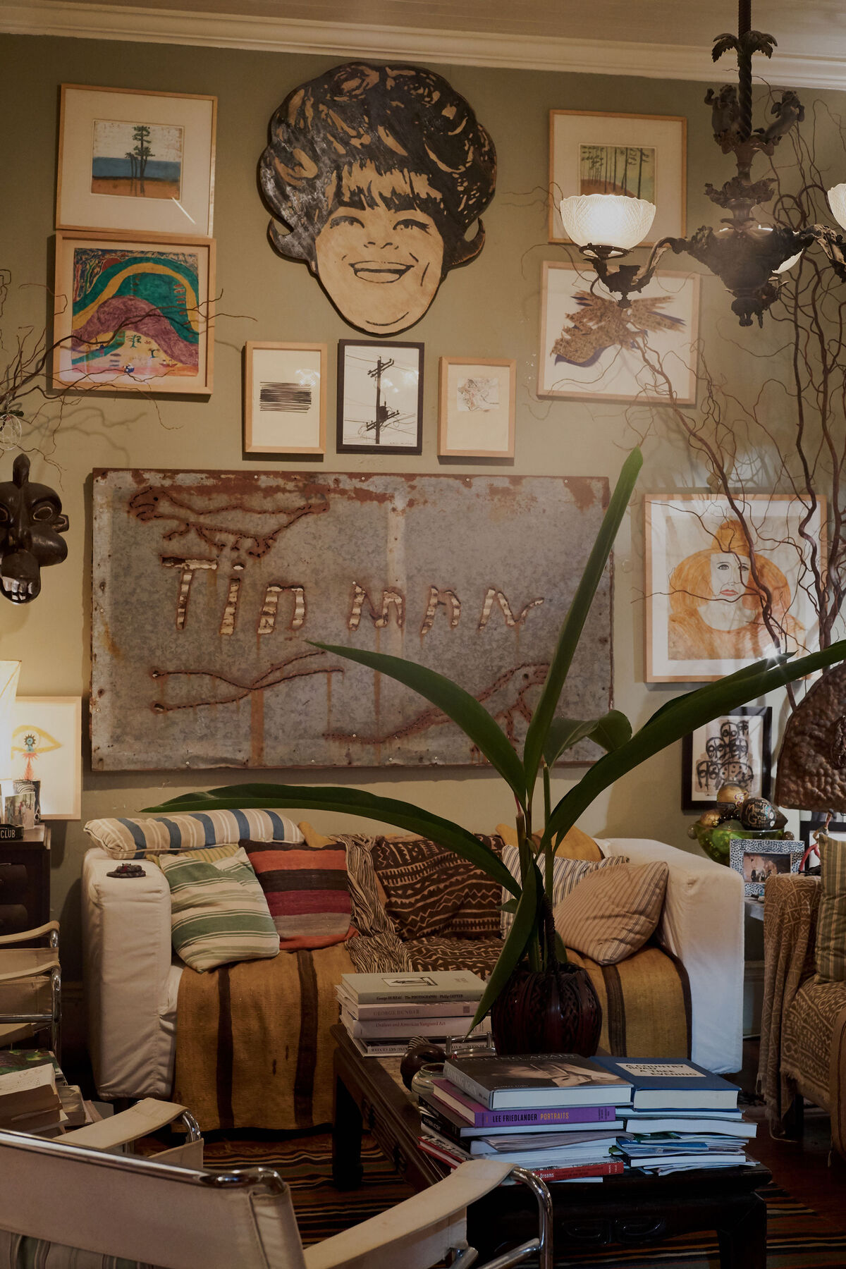 A view of Fagaly's living room. Photo by Michael Adno for Artsy.