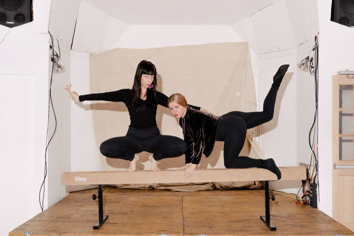 Portrait of FlucT (Sigrid Lauren and Monica Mirabile) in Brooklyn by Daniel Dorsa for Artsy.