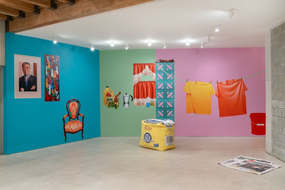 """Lucia Hierro, installation view of """"Vecinos/Neighbors"""" at Primary, 2020. Photo by Zachary Balber. Courtesy of Primary."""