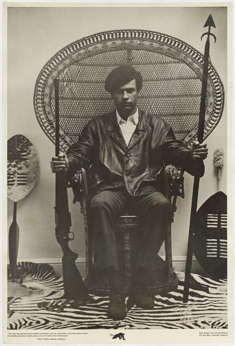 Huey Newton, Black Panther Minister of Defense, 1968. Courtesy of the Smithsonian National Museum of African American History and Culture.