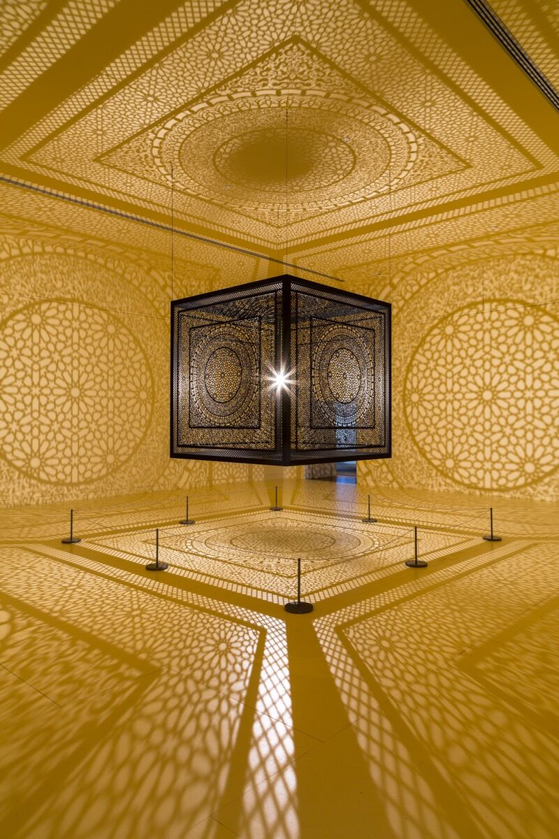 Anila Quayyum Agha, All the Flowers Are for Me, 2017. Courtesy of Peabody Essex Museum.