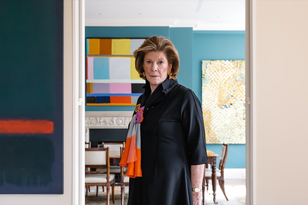 Portrait of Agnes Gund in her New York City home by Emiliano Granado for Artsy.