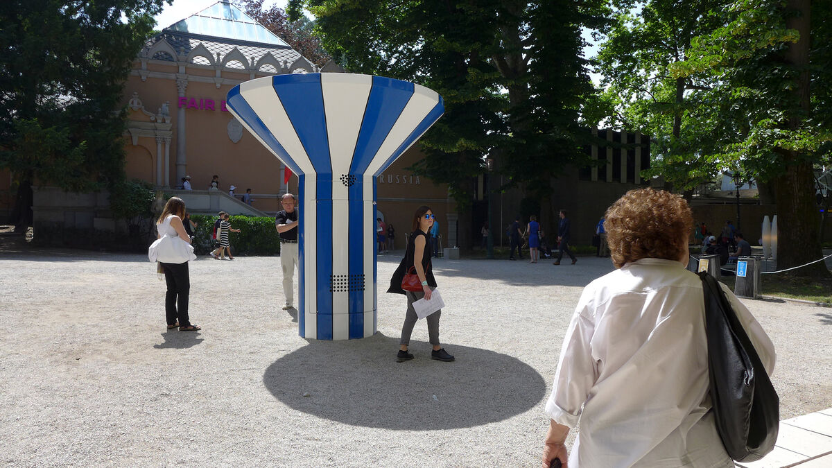 Installation view of Alia Farid, Drinking Fountain, at the 14th International Architecture Exhibition of the Venice Biennale. Courtesy of the artist.