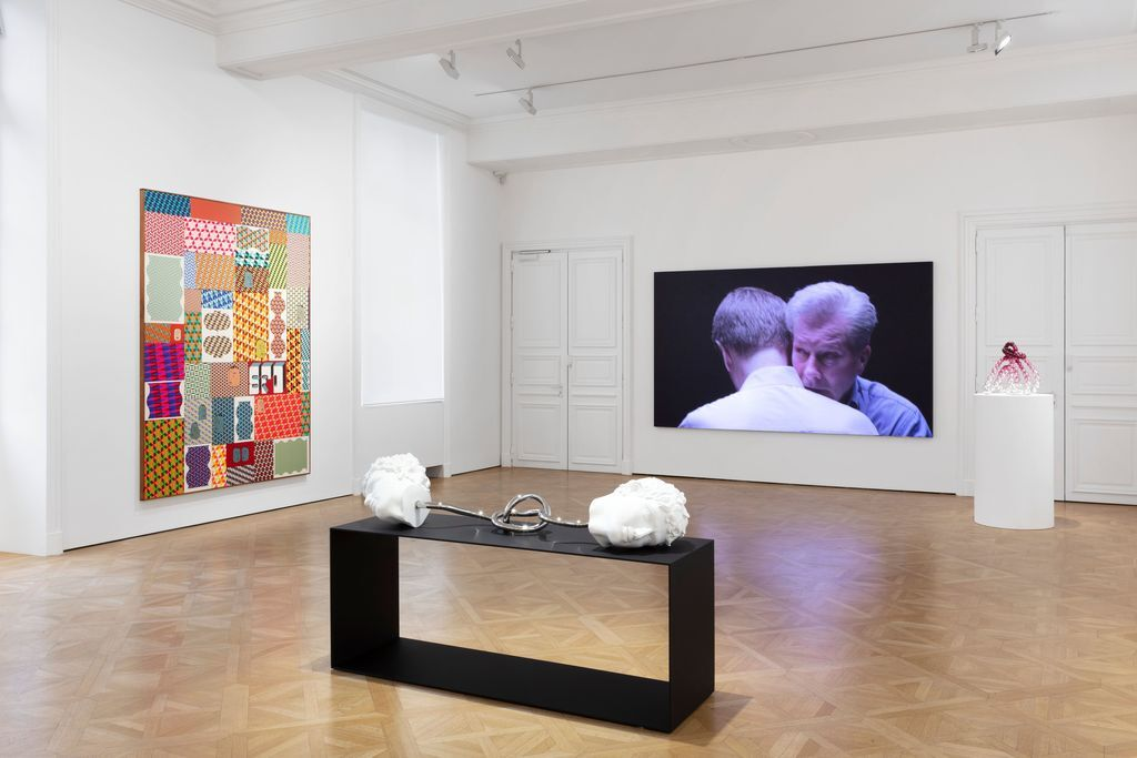Installation view of Perrotin's LE PARI(S) presentation, 2020. Photo by Claire Dorn. Courtesy of the artists and Perrotin.