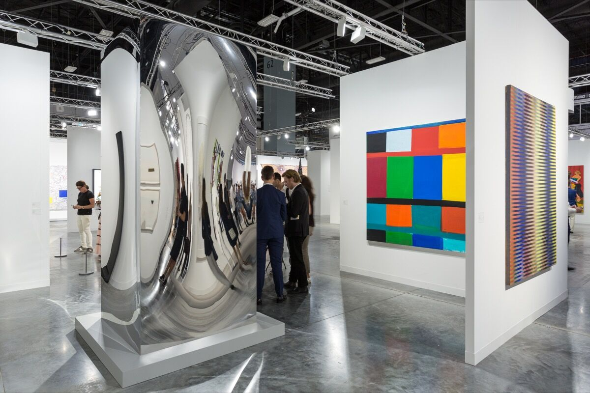 Installation view of Lisson Gallery's booth at Art Basel in Miami Beach, 2017. Photo by Alain Almiñana for Artsy.
