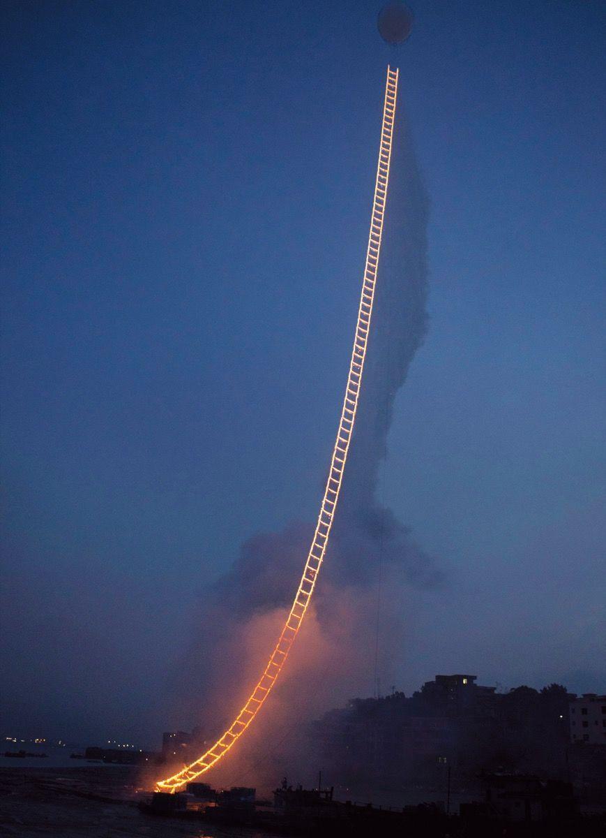 Cai Guo-Qiang,Sky Ladder, 2015. Photo by Wen-You Cai. Courtesy of Cai Studio.