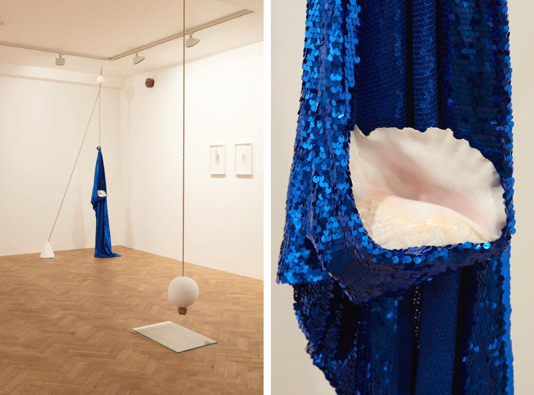 "Installation views of Kapwani Kiwanga's works in ""Mythopoeia"" at Tiwani Contemporary, London. Courtesy Tiwani Contemporary and the artist. Photography bySylvainDeleu"