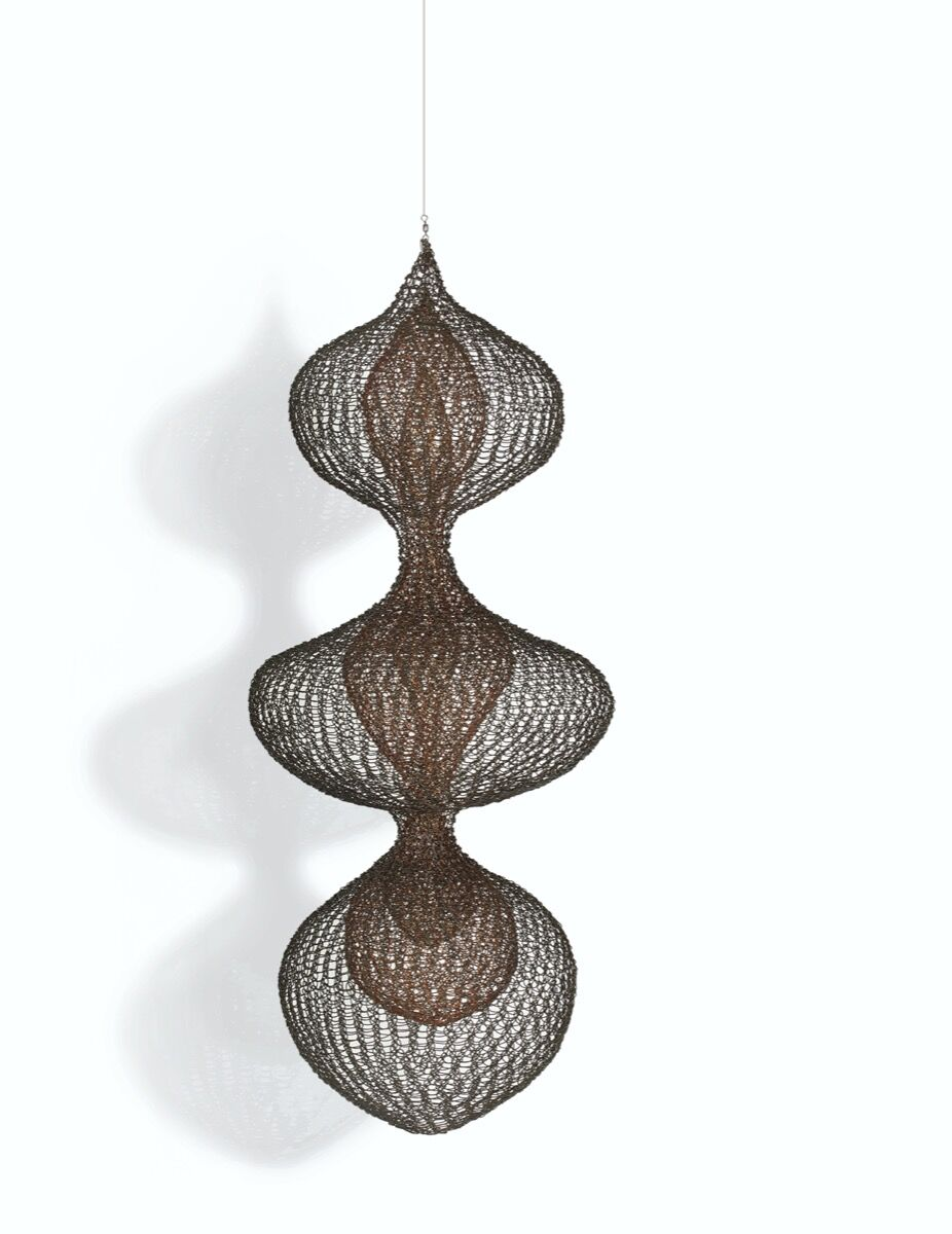 Ruth Asawa, Untitled (S.387, Hanging Three Separate Layers of Three-Lobed Forms), c. 1955. Courtesy of Christie's.