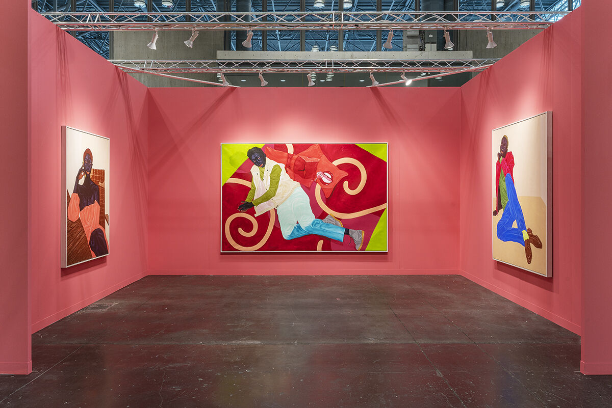Kwesi Botchway, installation view in Gallery 1957's booth at The Armory Show, 2021. Courtesy of the artist and Gallery 1957.