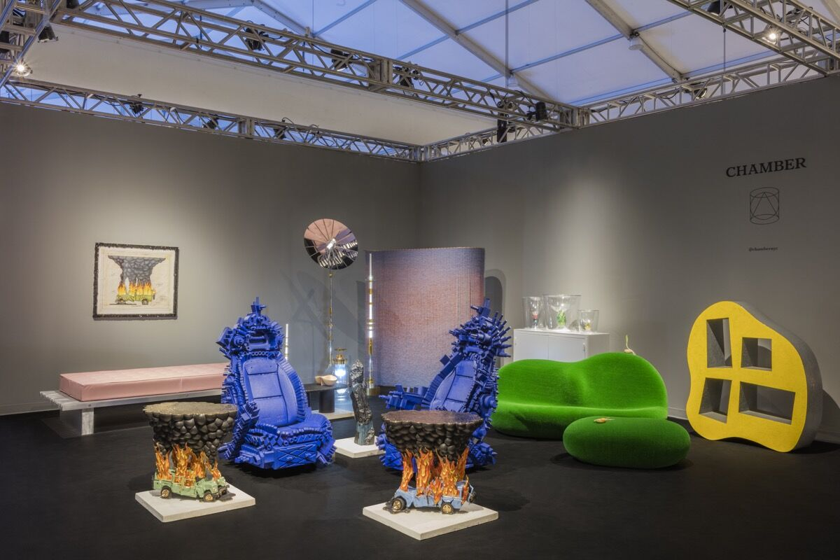 Installation view of Chamber's booth at Design Miami/, 2016. Photo by Lauren Coleman, courtesy of Chamber.