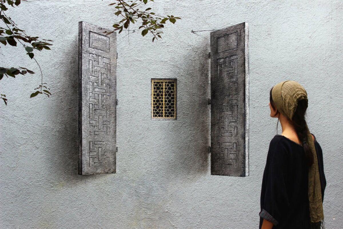 Pejac, Shutter, Blind Windows Series, Istabul, Turkey, 2015. Courtesy of the artist.
