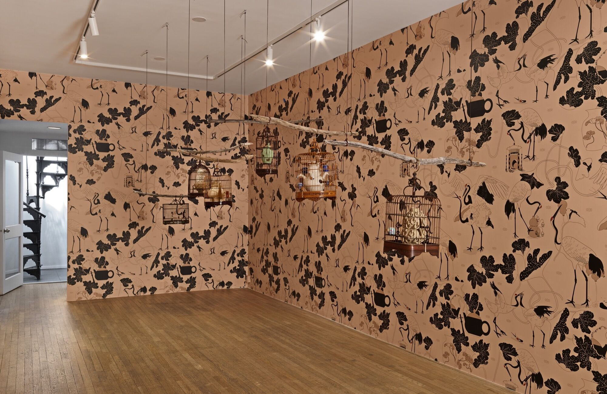 """Dominique Fung, installation view of """"It's Not Polite To Stare"""" at Jeffrey Deitch, New York, 2021. Photo by Cooper Dodds and Genevieve Hanson. Courtesy of the artist and Jeffrey Deitch, New York."""