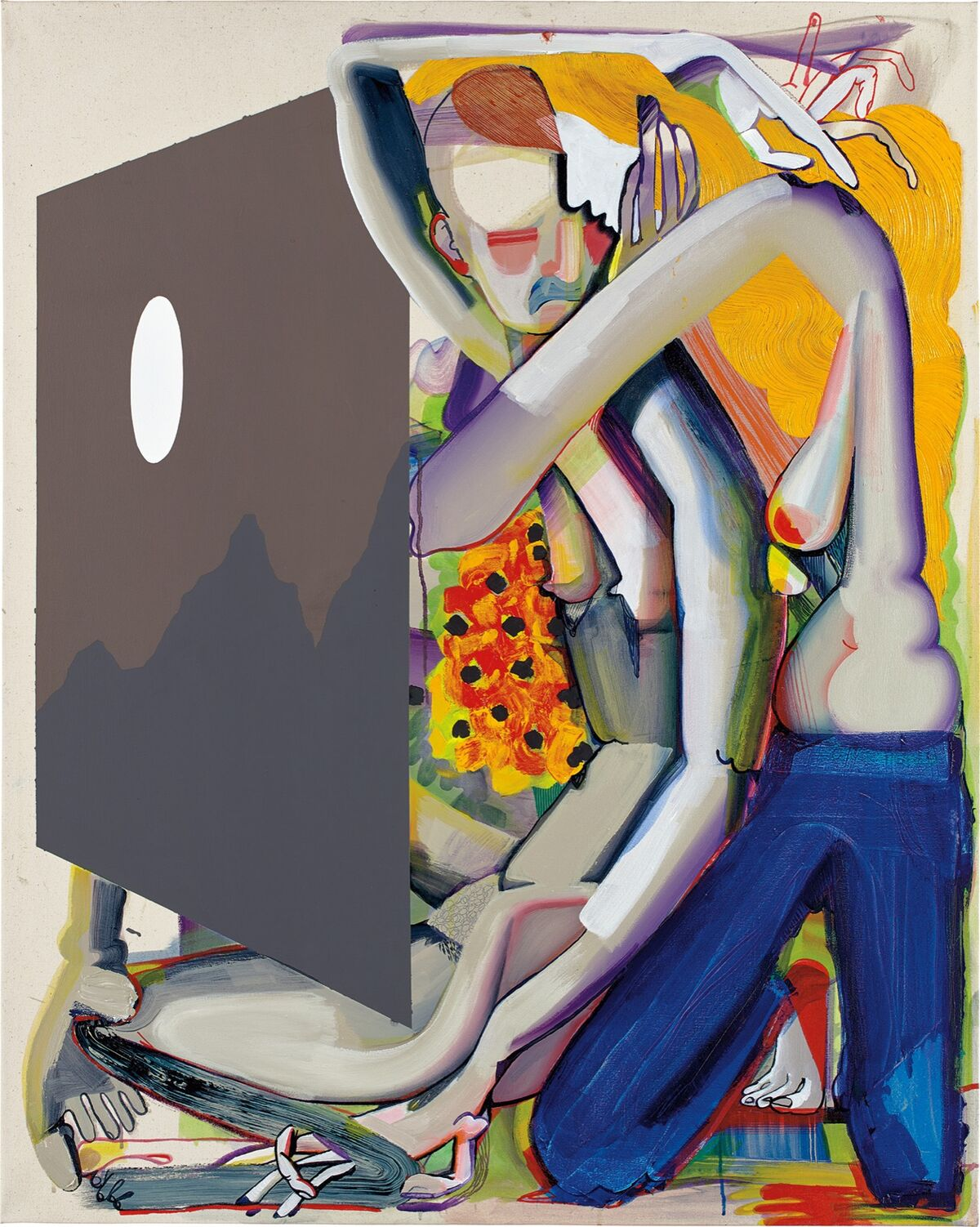 Christina Quarles, Moon (Lez Go Out N' Feel Tha Nite), 2017. Courtesy of Phillips.