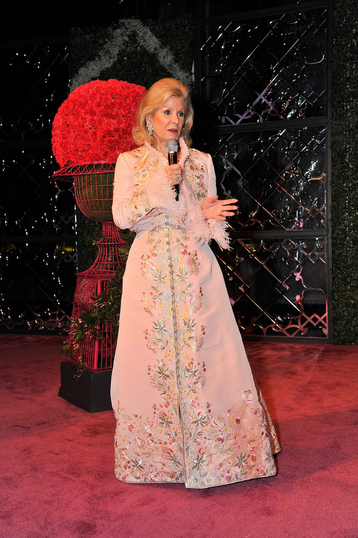 Dede Wilsey at the opening of an Oscar de la Renta retrospective at the de Young Museum. Photo by Steve Jennings/Getty Images for Fine Arts Museums of San Francisco.