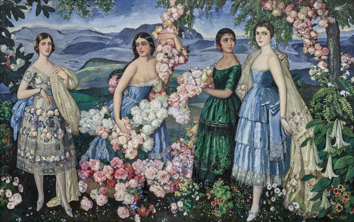 Alfredo Ramos Martínez, Flores Mexicanas, 1914-1929.  © El Proyecto de Investigación Alfredo Ramos Martínez.  Cortesía del Museo de Arte de Dallas.