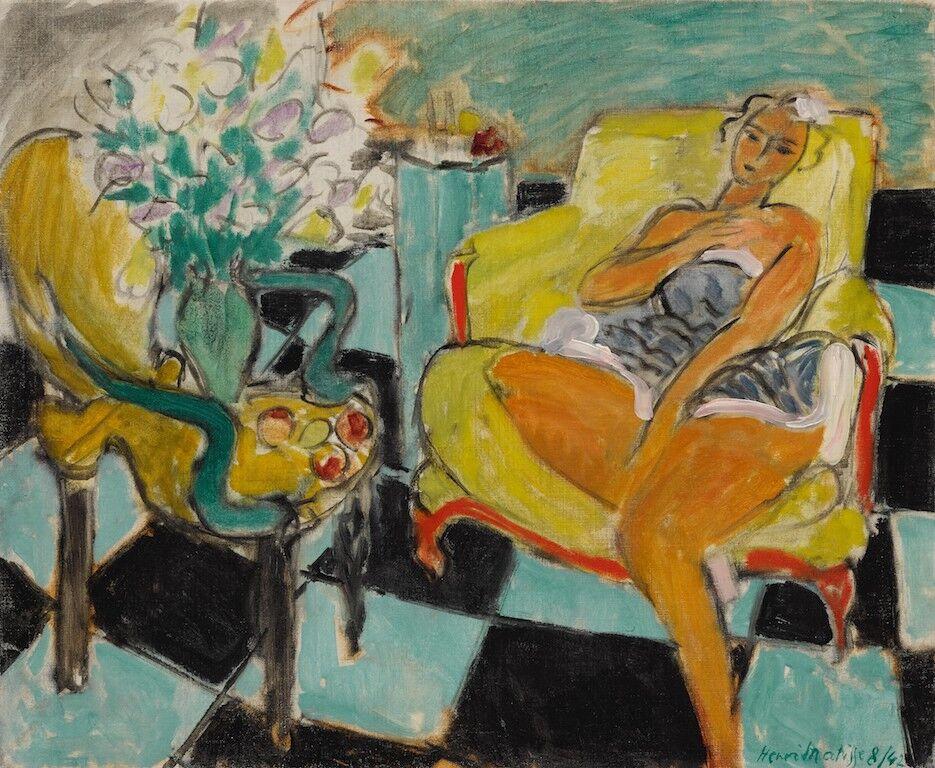 Henri Matisse, Danseuse assise dans un fauteuil, 1942. Courtesy of Sotheby's.
