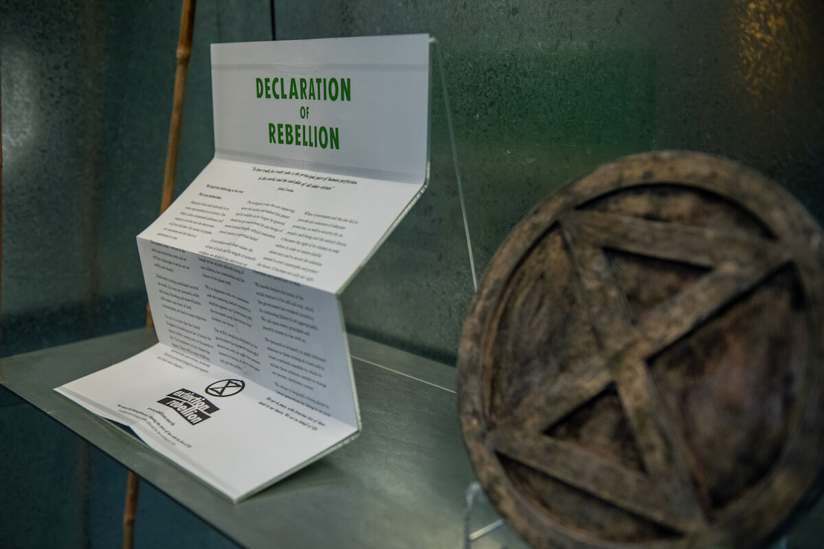 New Extinction Rebellion acquisitions go on display at the V&A. Photo by Chris J Ratcliffe, Getty Images for The V&A.