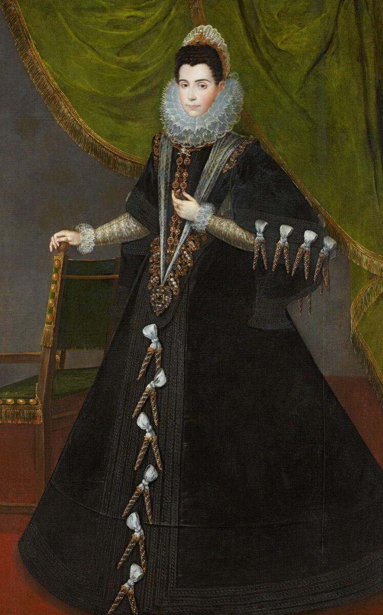 """Attributed to Juan Pantoja de la Cruz, Portrait of the VI Countess of Miranda (""""Retrato de la VI condesa de Miranda""""), 17th century. Courtesy of the Museo Thyssen Bornemisza."""