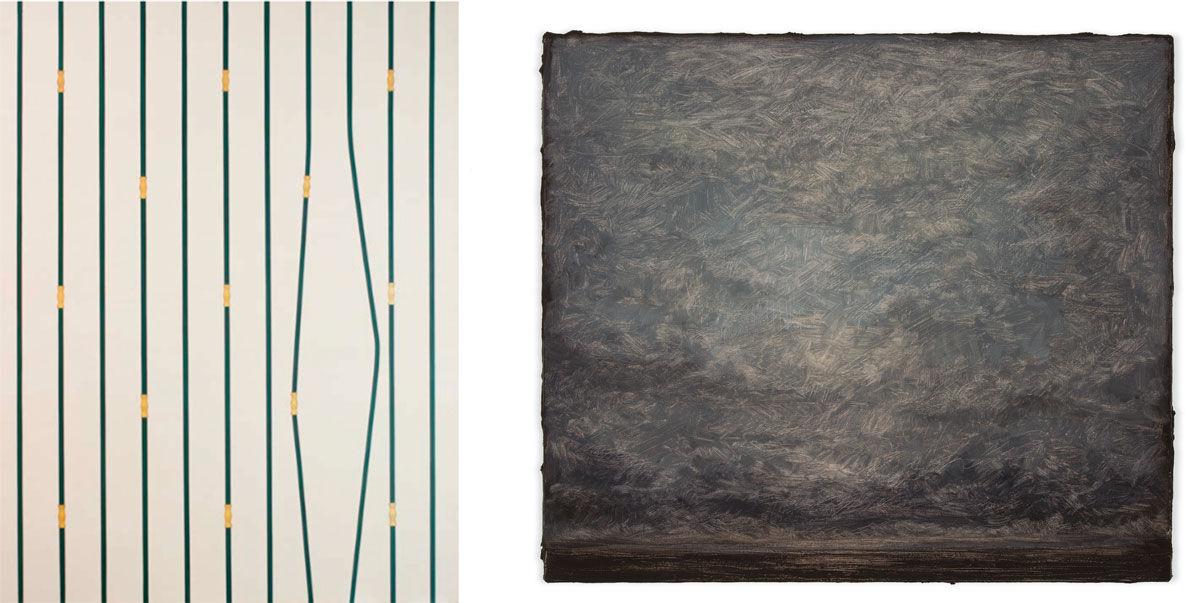 Left: Tiago Tebet, Invasão/Evasão, 2016. Image courtesy of Luciana Brito Galeria; Right: Lucas Arruda, Untitled, 2016. Image courtesy of Mendes Wood DM.
