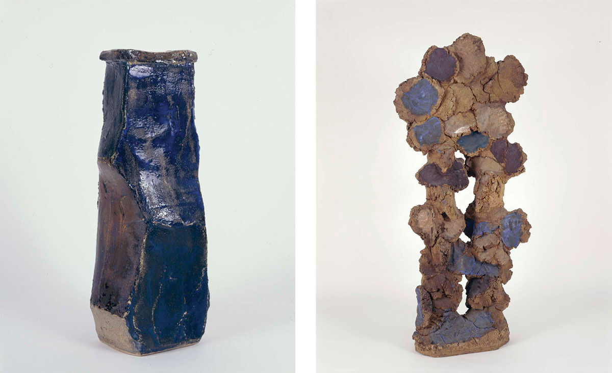Left: John Mason, Untitled, 1958. Right: John Mason, Untitled, 1960. Images courtesy of Michael Rosenfeld Gallery LLC, New York, NY.
