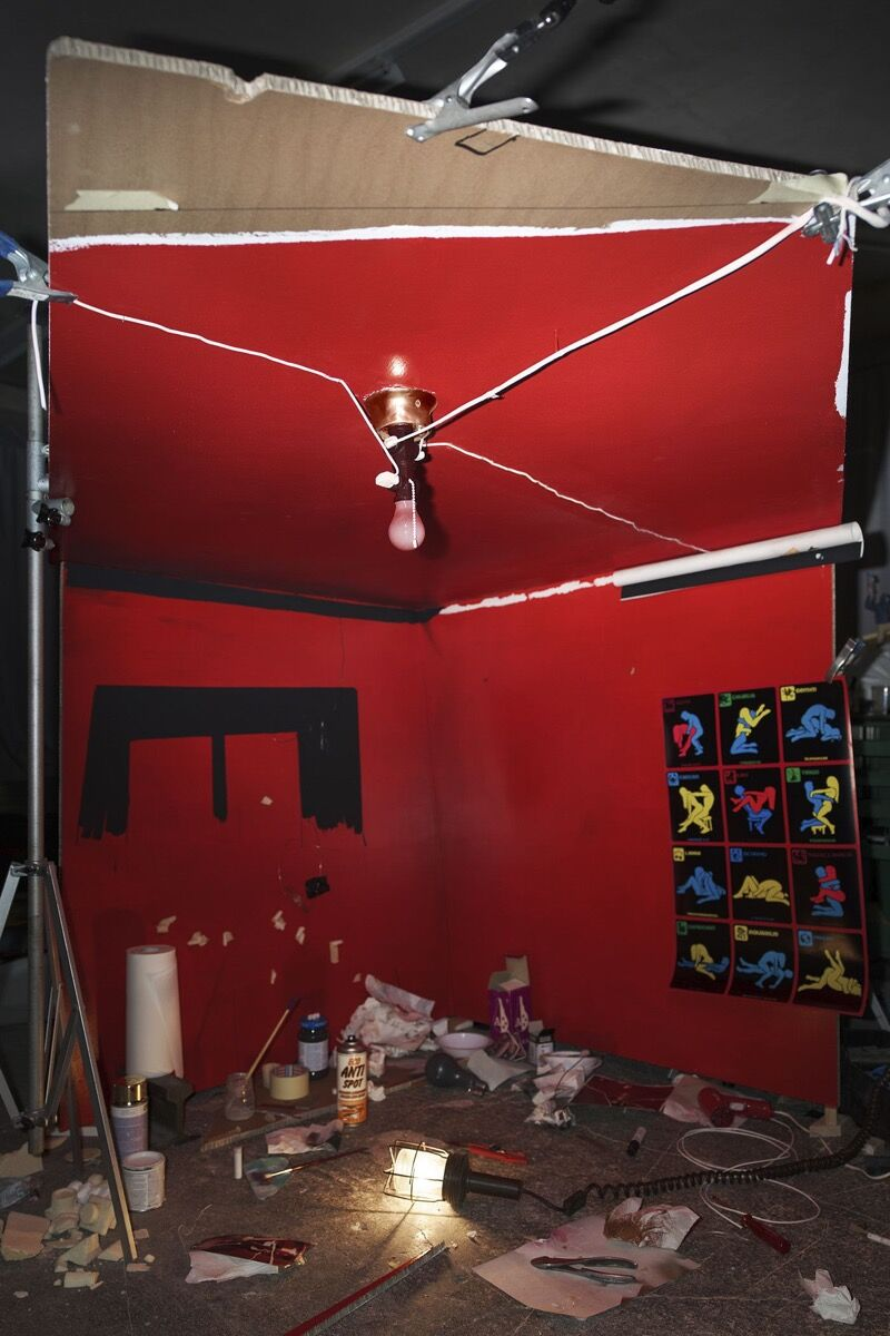 """Cortis & Sonderegger, Making of """"The Red Ceiling"""" (by William Eggleston, 1973), 2016. Courtesy of Bryce Wolkowitz Gallery."""