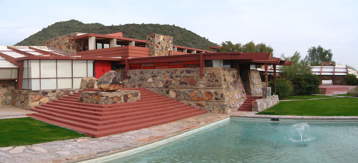 Frank Lloyd Wright, Taliesin West Complex. Photo by Greg O'Beirne, via Wikimedia Commons.