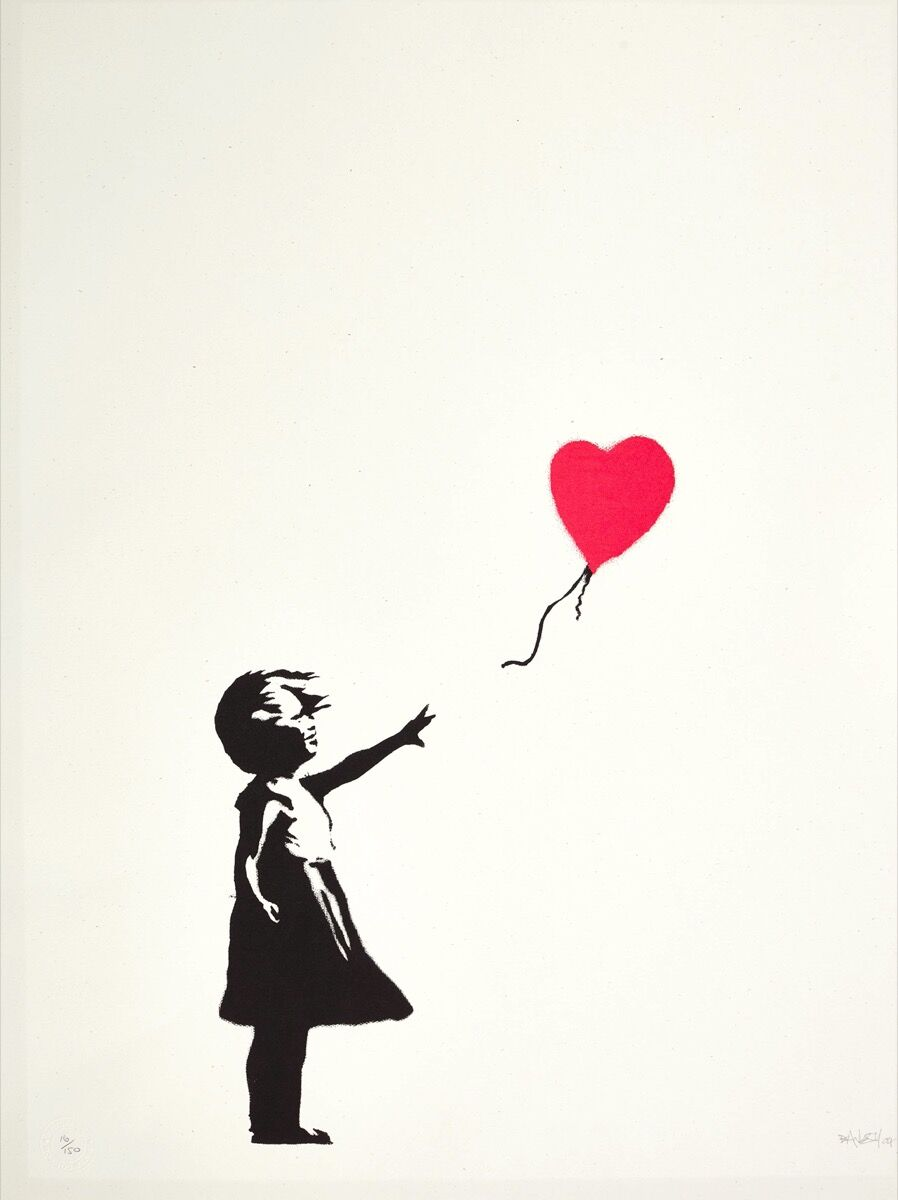 Banksy, Girl with Balloon, 2004. Courtesy of Sotheby's.