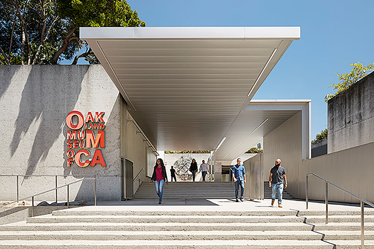 Exterior view of the Oakland Museum of California. Photo by Matthew Millman. Courtesy of the Oakland Museum of California.