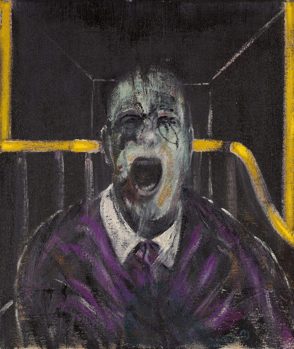 Francis Bacon, Study for a Head, 1952. Est. $20 million–$30 million. Courtesy Sotheby's.
