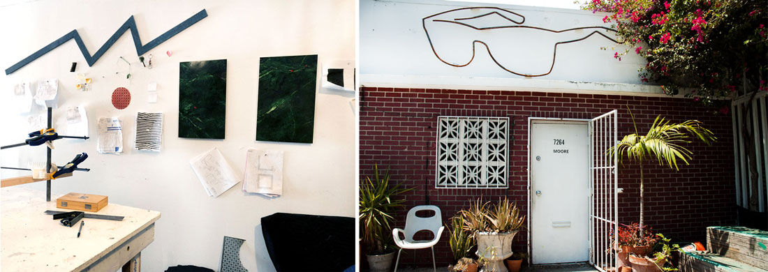 EmmettMoore'sMiami studio. Photos by Liz Newberry.