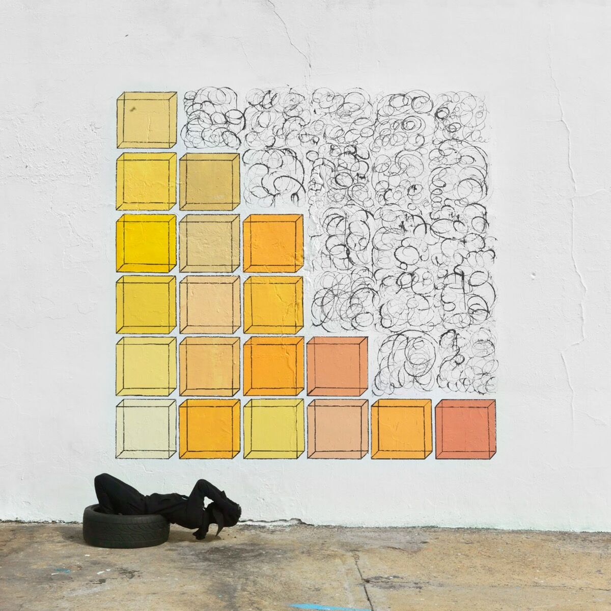 Robin Rhode, Under the Sun, 2017 (detail). Courtesy of the artist and Lehmann Maupin, New York and Hong Kong.