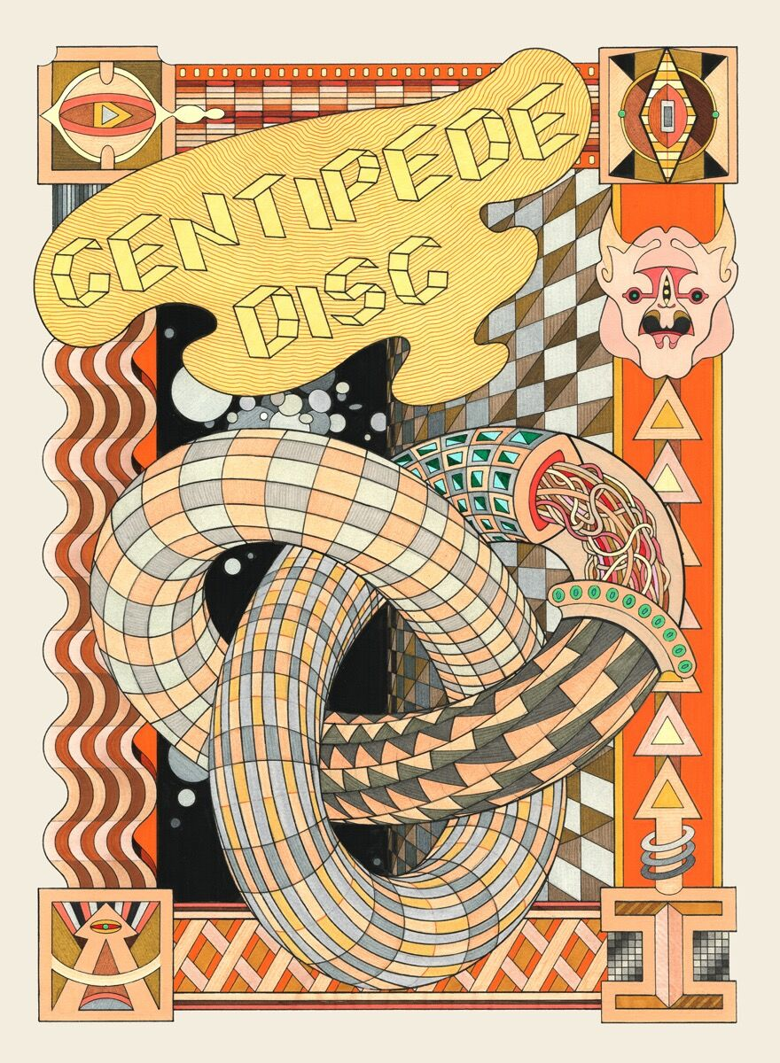 Jess Johnson, Centipede Disc, 2020. Courtesy of the artist.