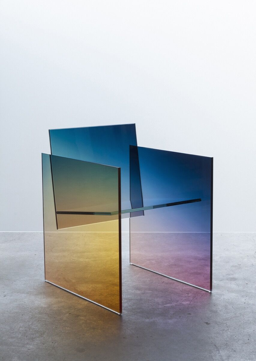 Germans Ermičs, Ombré Glass Chair, 2017. Courtesy of the artist.
