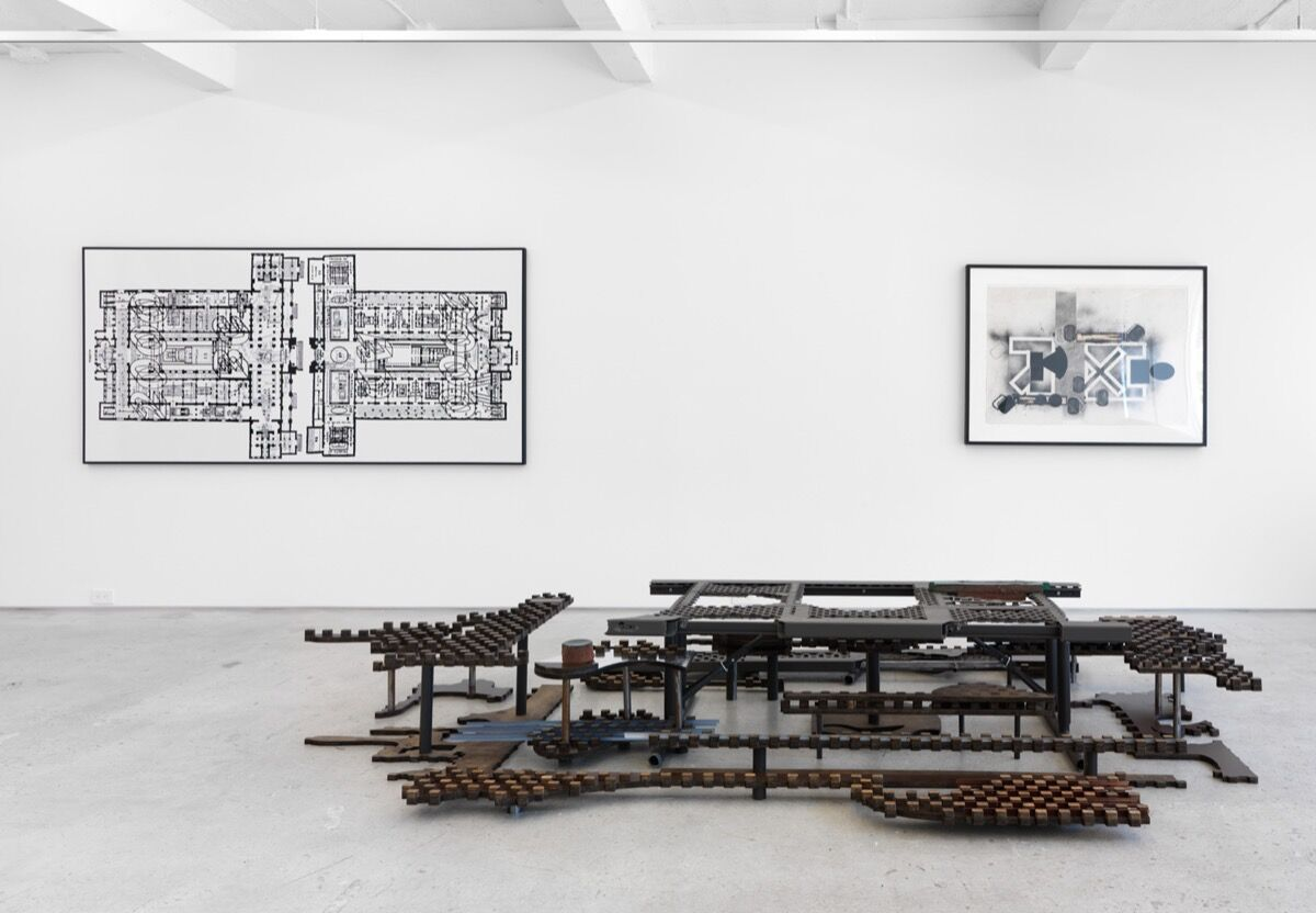 """Installation view of work by Anne Libby in """"NAGY / LIBBY / LE VA"""" at Magenta Plains, New York. Image courtesy of the artist and Magenta Plains, New York."""