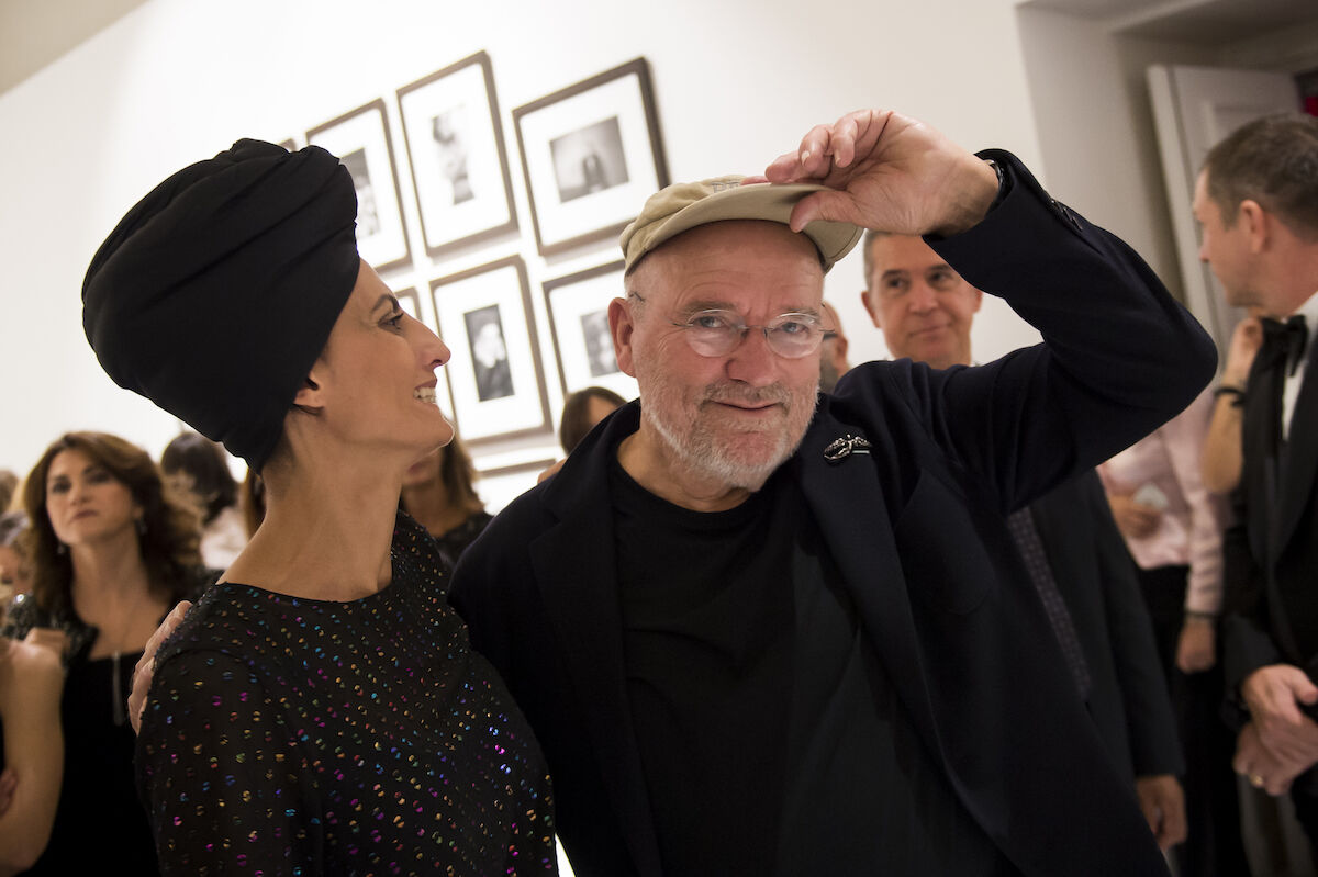 Peter Lindbergh at the opening of an exhibition of his photographs in Turin, Italy. Photo by Giorgio Perottino/Getty Images.